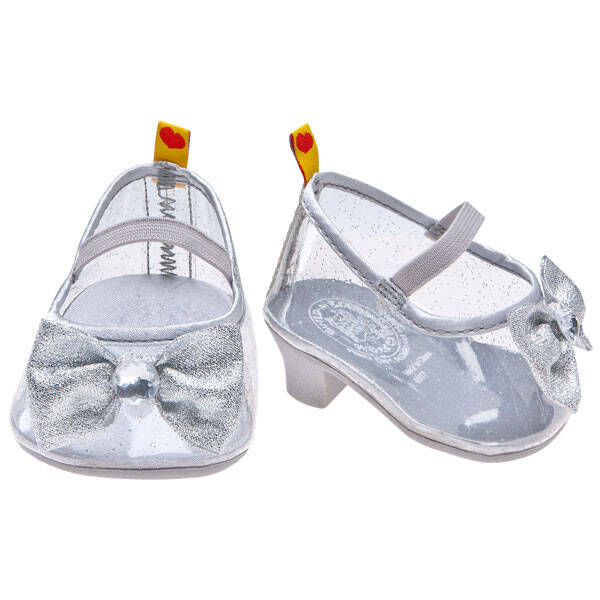 Disney Princess Aurora Silver Sparkle Heels by Build-A-Bear