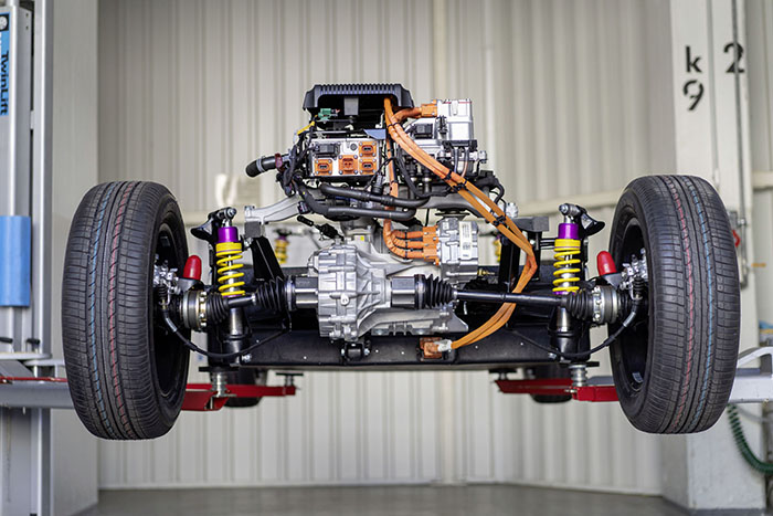 Electric Volkswagen Beetle Chassis