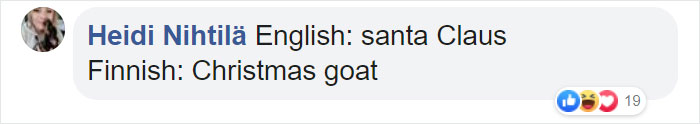 Funny Translation for Santa Claus in Finnish