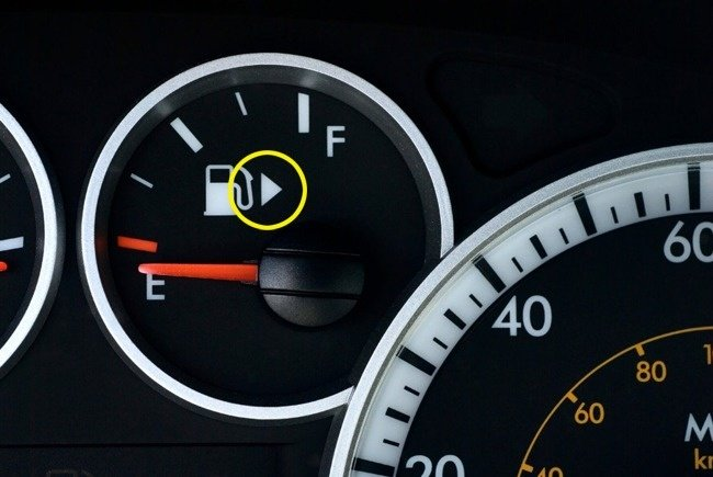 Gas Tank Indicator Arrow Indicated by a Yellow Circle Things You Didn't Know