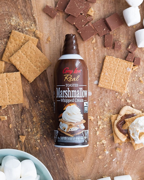 Gay Lea Toasted Marshmallow Whipped Cream Creative Product Shot