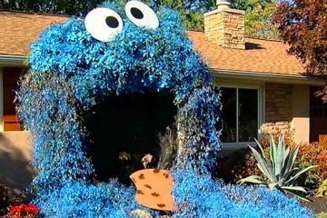 Giant Cookie Monster Halloween Decoration
