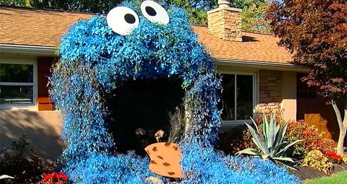 Giant Cookie Monster Halloween Decoration
