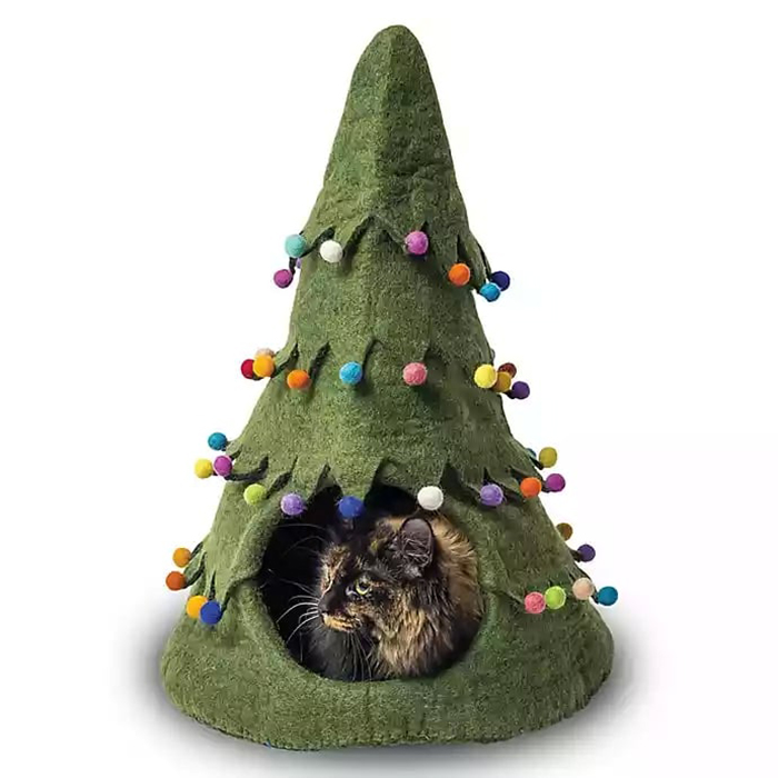 Green Christmas Tree Pet House
