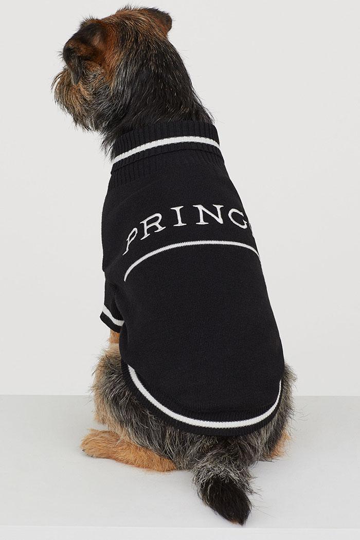 H&M Black Knitted Dog Jumper