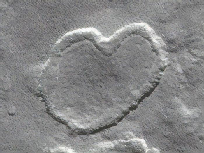 Heart-shaped Mesa on Mars Captured by NASA