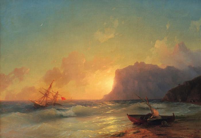 Ship in Stormy Seas, Ivan Konstantinovich Aivazovsky