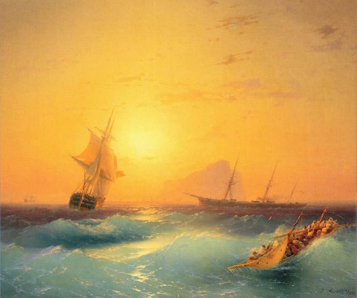 Ivan Konstantinovich Aivazovsky stormy sea