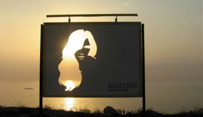 Koleston Naturals Billboard Featuring a Silhouette of a Lady with Die-cut Hair