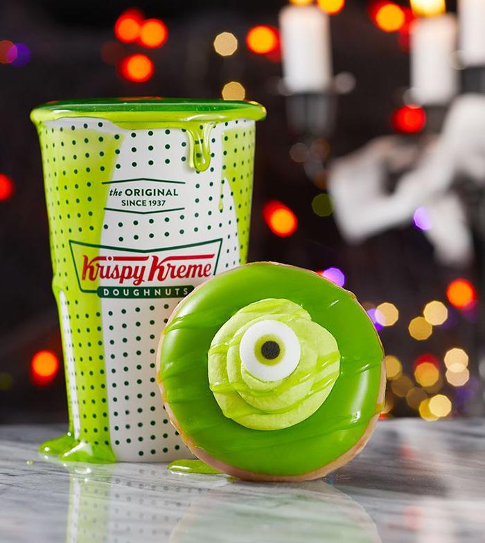 Krispy Kreme's Halloween Monster Donuts Slimo and Monster Skreme Shake