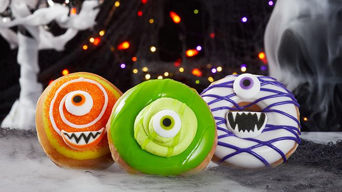Krispy Kreme's Halloween Monster Donuts trio
