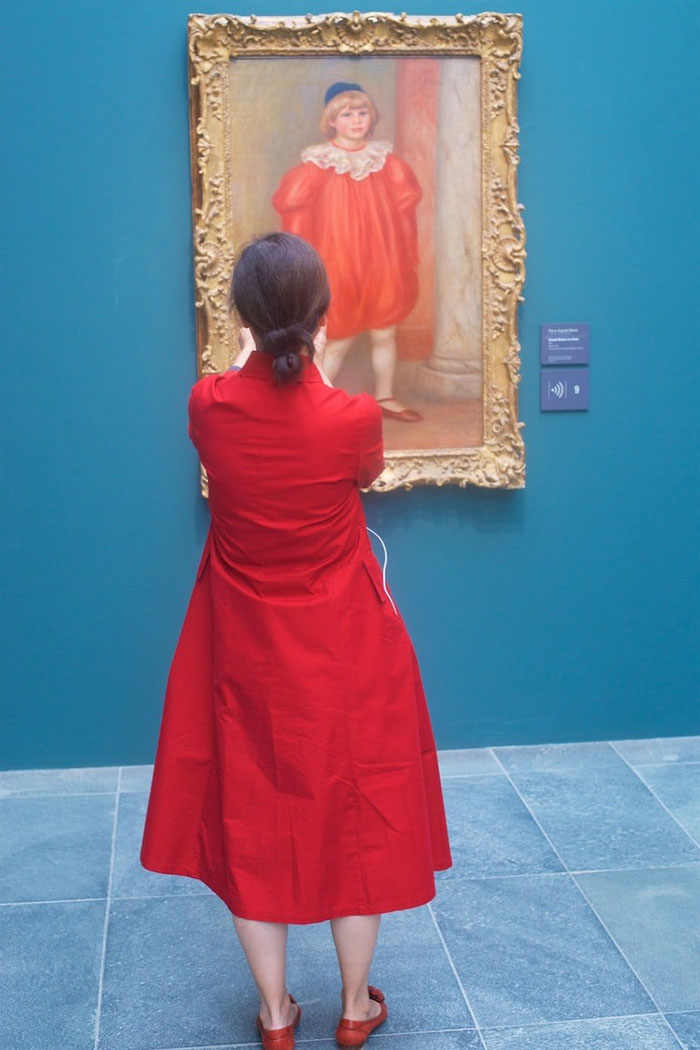Lady in Red Dress Matching Painting 2