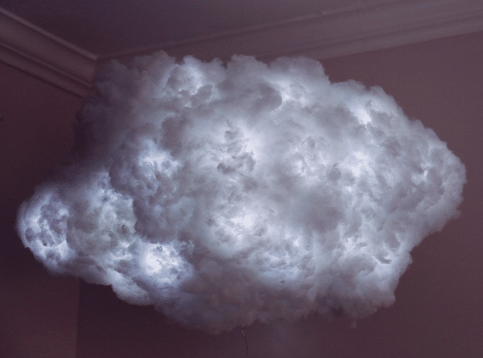Lighted Floating Cloud Light from the Ceiling