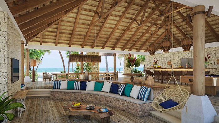 Living Area at Kanu Private Island