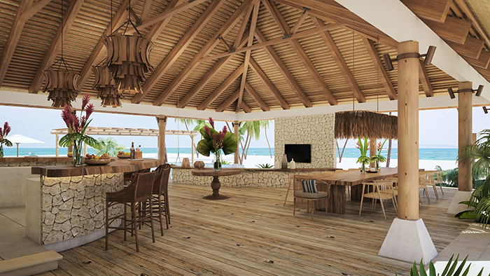 Main Building Bar at Kanu Private Island