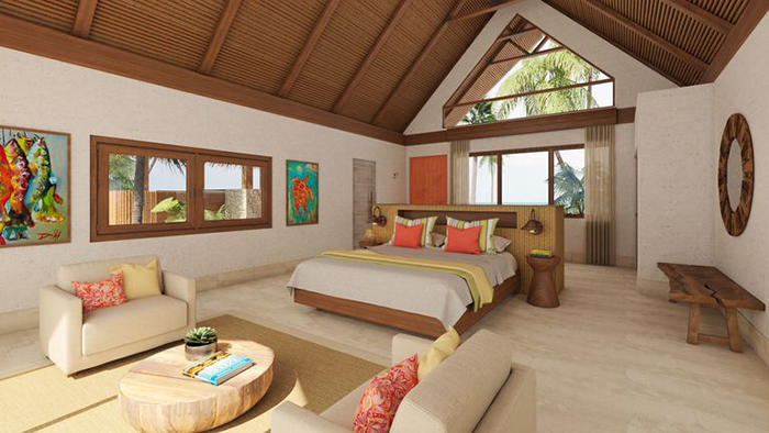 Masters Bedroom at Kanu Private Island