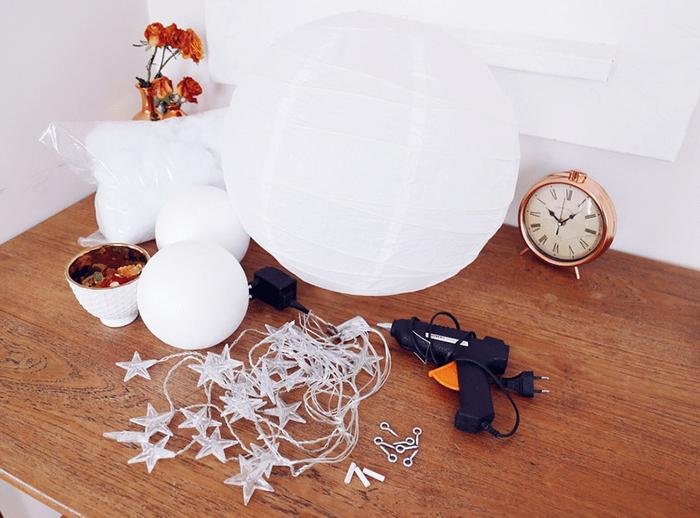 Materials for DIY Cloud Light