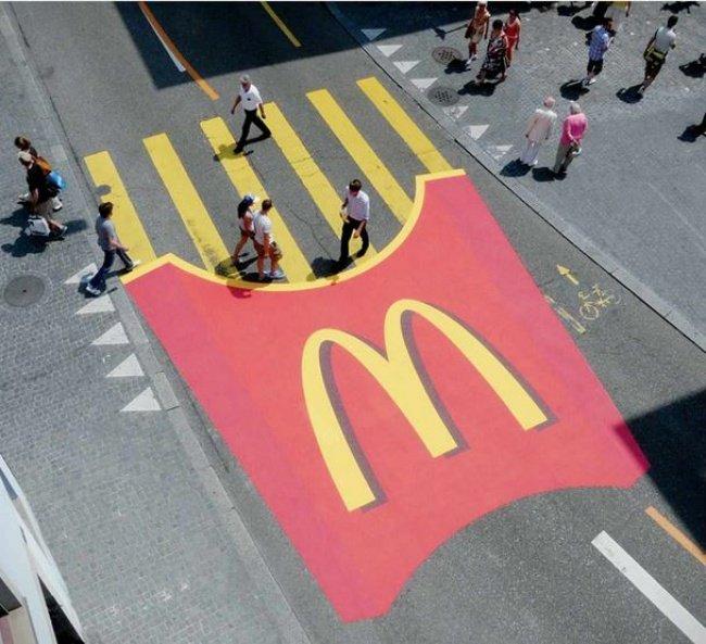 McDonald's Fries as Pedestrian Crossing