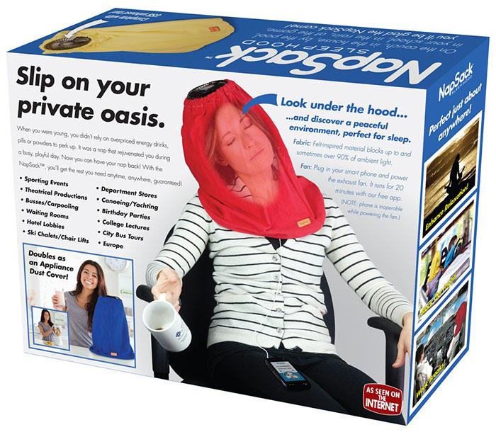 Nap Sack Sleep Hood Packaging Back