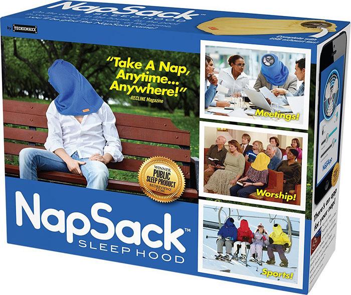 Nap Sack Sleep Hood Packaging Front