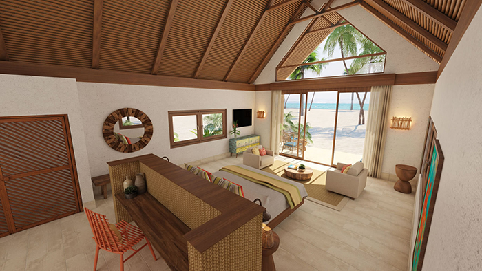 Ocean View Bedroom at Kanu Private Island