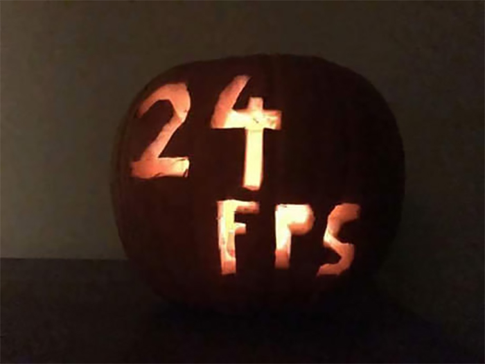 Pumpkin with 24 FPS Carving