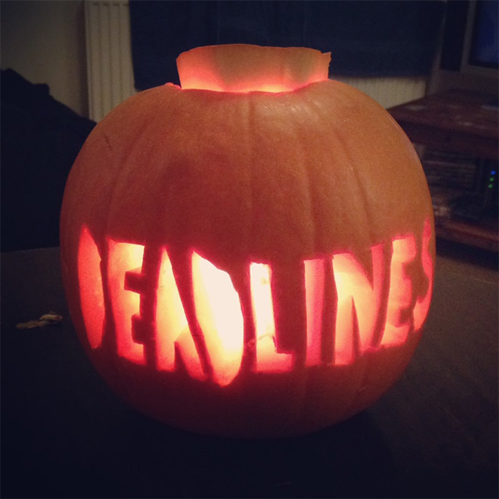 Pumpkin with Deadlines Carving