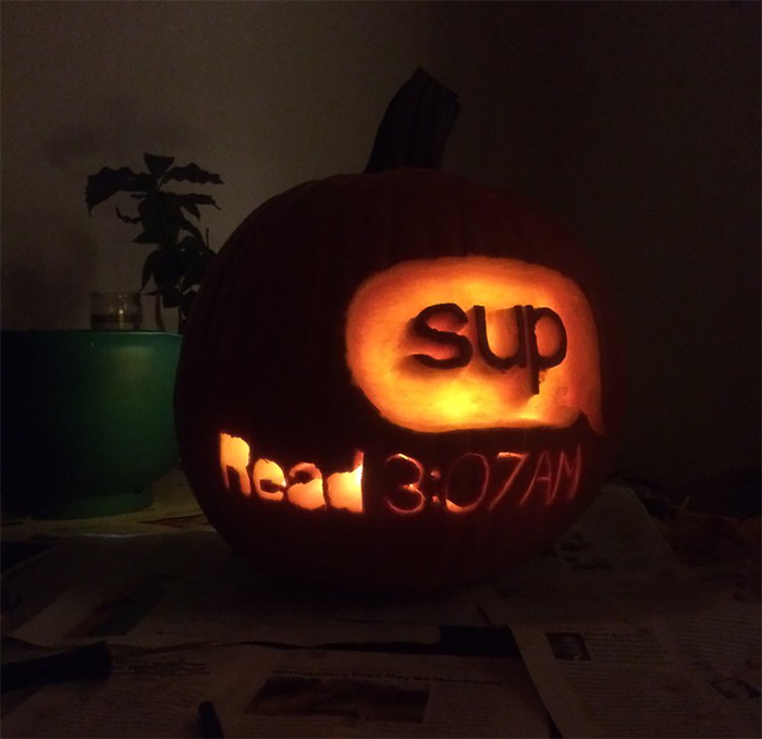 Pumpkin with Message Read Carving