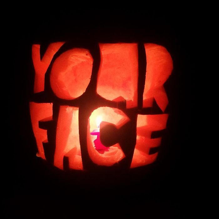Pumpkin with Your Face Carving