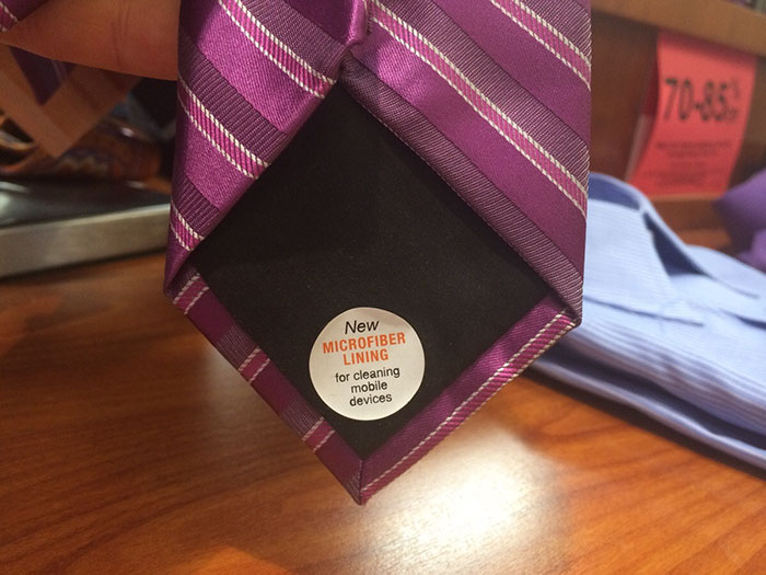 Purple Necktie with a Microfiber Lining