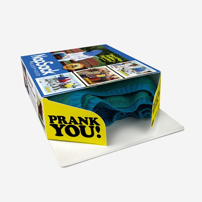 Real Gift Inside the Nap Sack Sleep Hood Gift Box