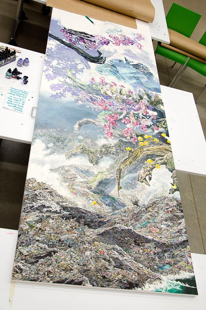 Rebirth Painting by Manabu Ikeda Single Panel