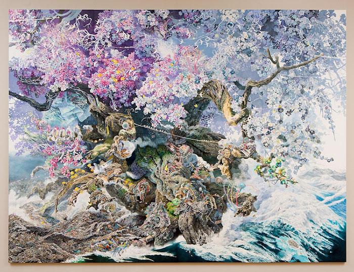 Rebirth Painting by Manabu Ikeda