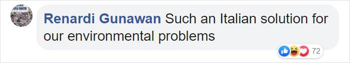 Renardi Gunawan Facebook Comment