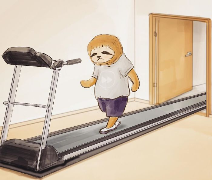Sloth Walking on a Treadmill