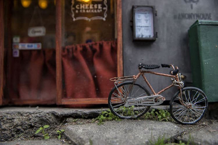 Small Bicycle in front of Tiny Mice Shop