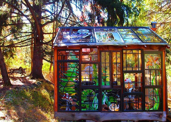 Stained Glass Cabin in the Woods