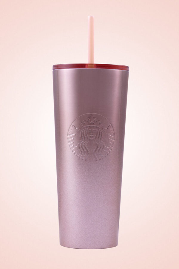 Starbucks Glitter Gradient Pink Cold Cup