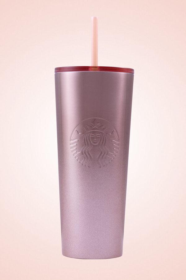 Starbucks Glitter Gradient Pink Cold Cup