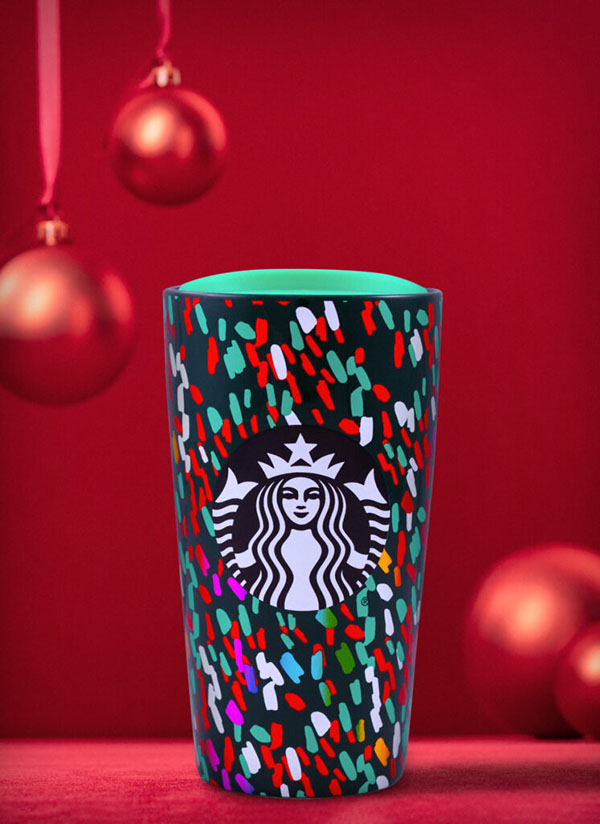 Starbucks Green Confetti Tumbler