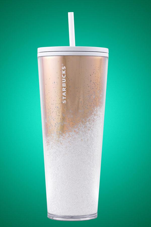 Starbucks Mirror Glitter Gold Cold Cup