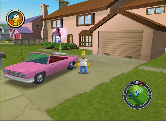 The Simpsons Hit & Run In-game Screenshot