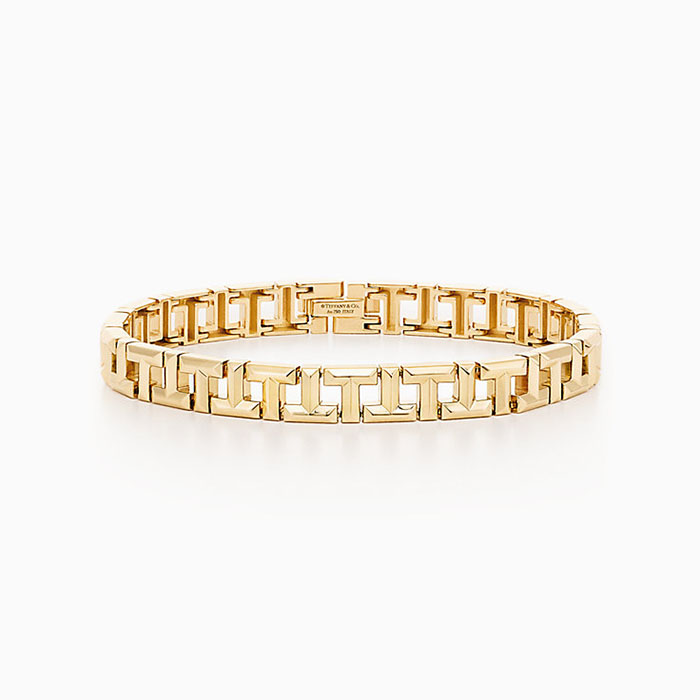 Tiffany T True Narrow Bracelet in 18k Gold