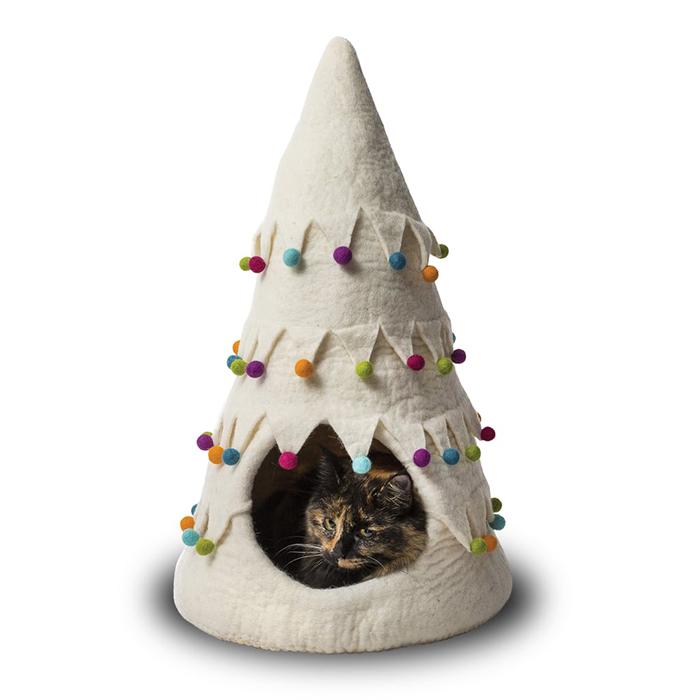 White Christmas Tree Pet House