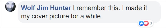 Wolf Jim Hunter Facebook Comment