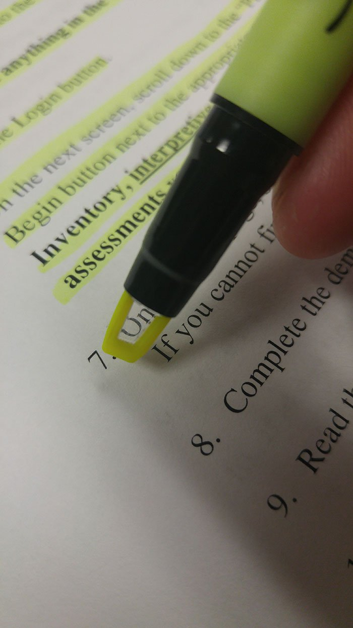 Yellow Highlighter with a Clear View