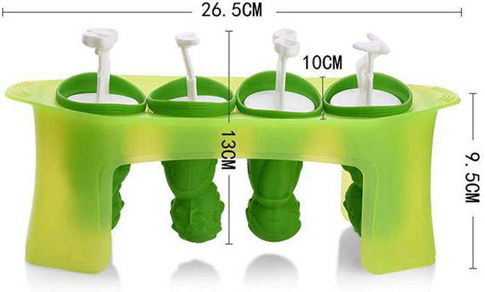 Zombie Popsicle Molds Product Dimensions
