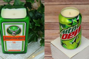 alcohol and soda candles