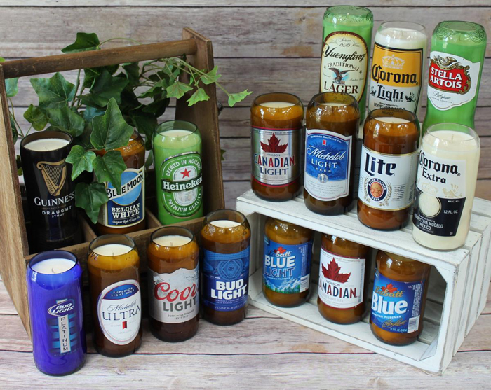 alcoholic drink candles beer brands
