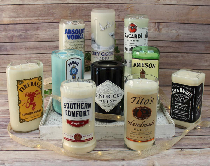 alcoholic drink candles hard liquor edition